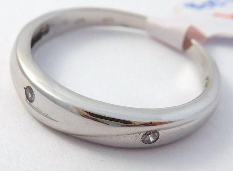 Mohutný zlatý masivní prsten z bílého zlata 585/2,30gr vel.55 T310X (POŠTOVNÉ ZDARMA!!! - T310X)