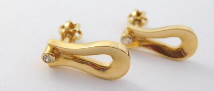 Zlaté náušnice ze žlutého zlata na šroubek 585/3,05gr T290X (POŠTOVNÉ ZDARMA!!! - T290X)