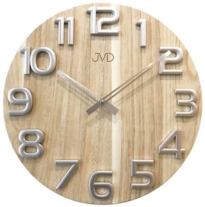 Nástěnné dřevěné hodiny JVD HT97.1 s vystouplými číslicemi (POŠTOVNÉ ZDARMA!!)