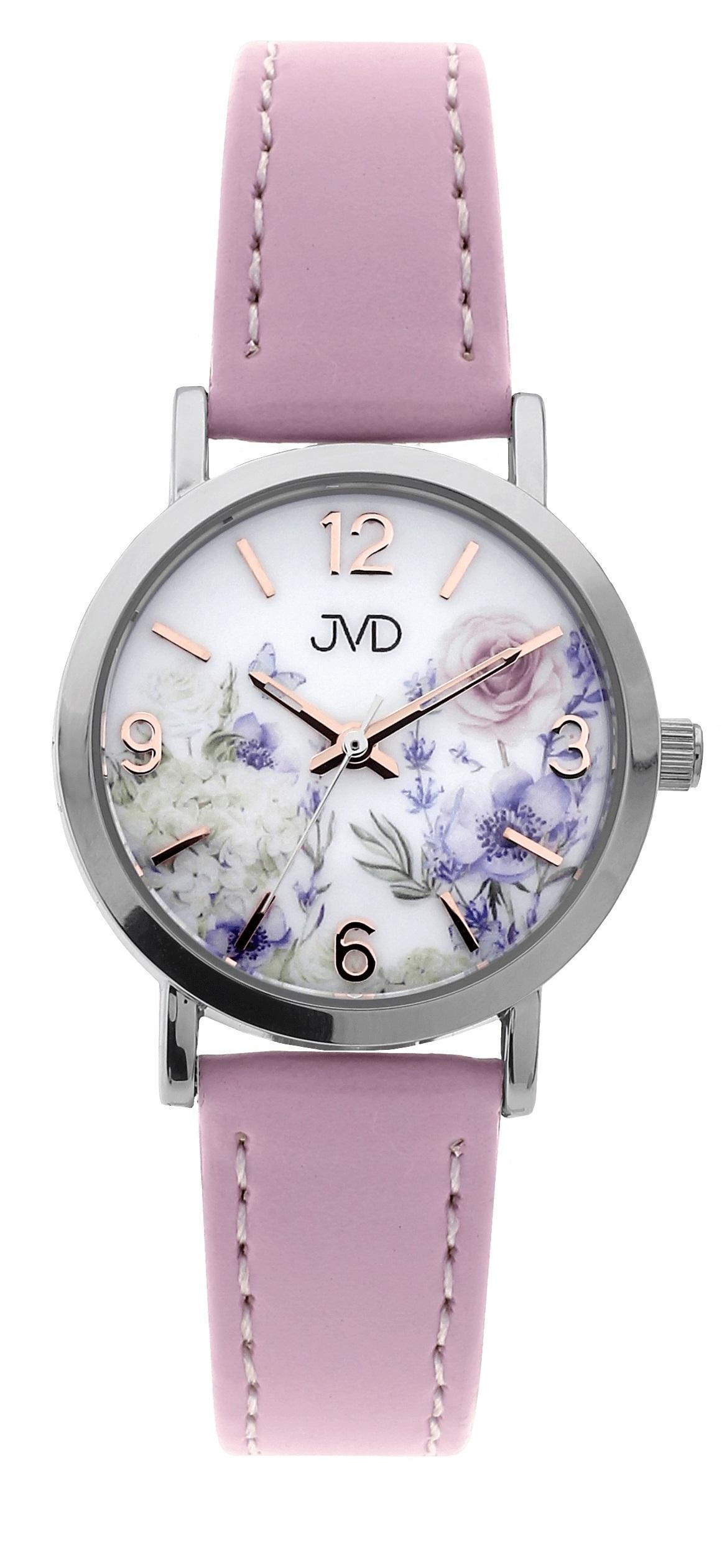 Dětské dívčí přehledné náramkové hodinky JVD J7184.1