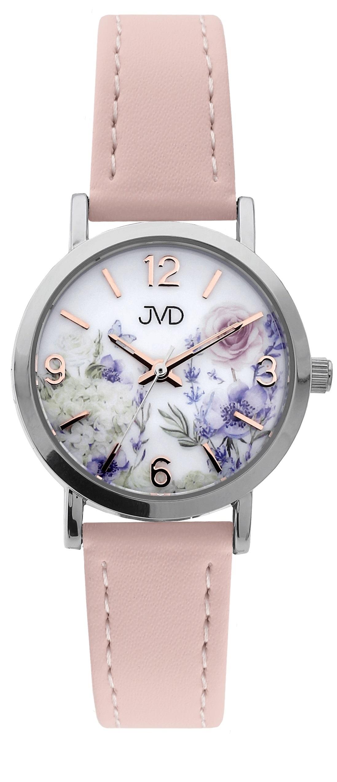 Dětské dívčí přehledné náramkové hodinky JVD J7184.3