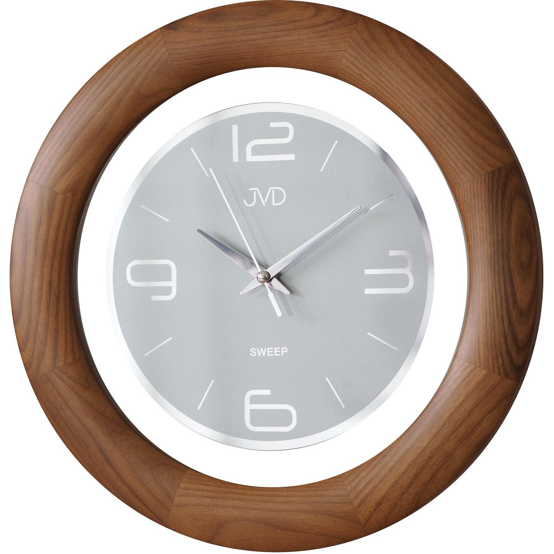 Dřevěné netickající tiché nástěnné hodiny JVD NS14065/11 ( )