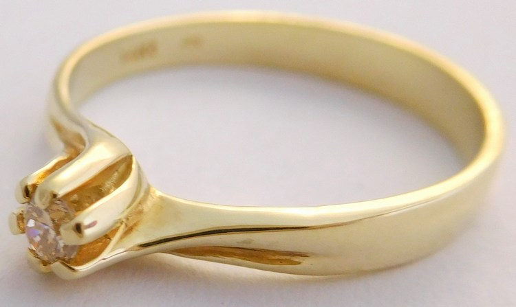 Zásnubní zlatý diamantový prsten s diamantem vel. 59 585/2,24gr 17-01 206 (17-01 206 - POŠTOVNÉ ZDARMA!!! SKLADEM IHNED ODESÍLÁME!!)