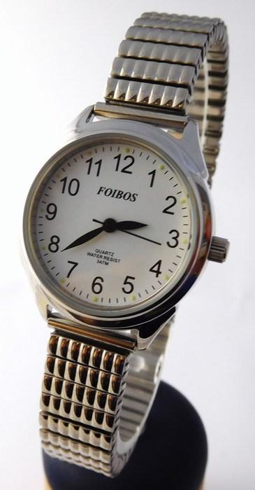 Kompletní specifikace · Ke stažení · Související zboží · Komentáře (0). Dámské  stříbrné čitelné hodinky Foibos 3700 s pérovacím páskem 7c45f04e7b