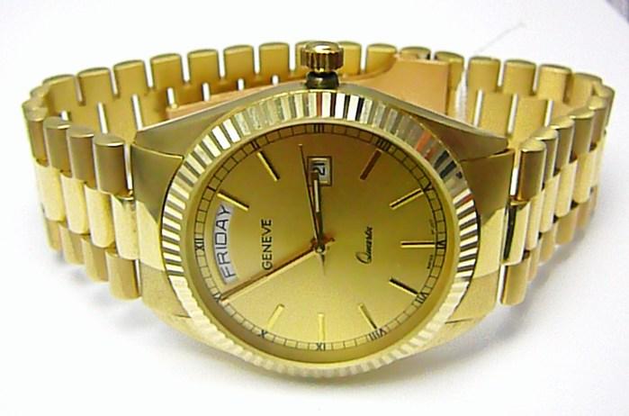 93dba6eef85 Luxusní elegantní pánské zlaté švýcarské hodinky 585 77