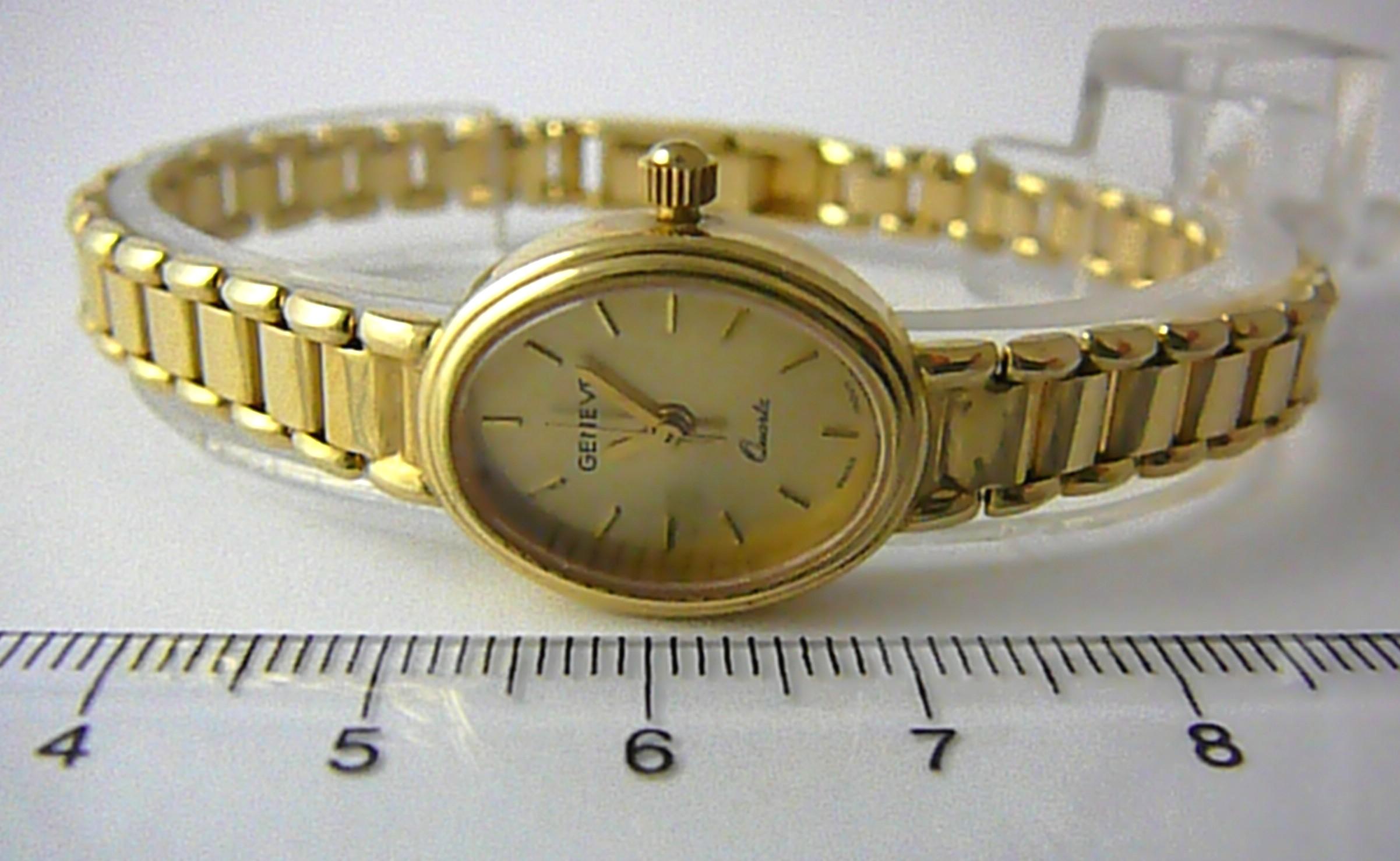 Kompletní specifikace · Ke stažení · Související zboží · Komentáře (0). Luxusní  společenské dámské švýcarské zlaté hodinky GENEVE 585 19 ... 9fc4de846cc