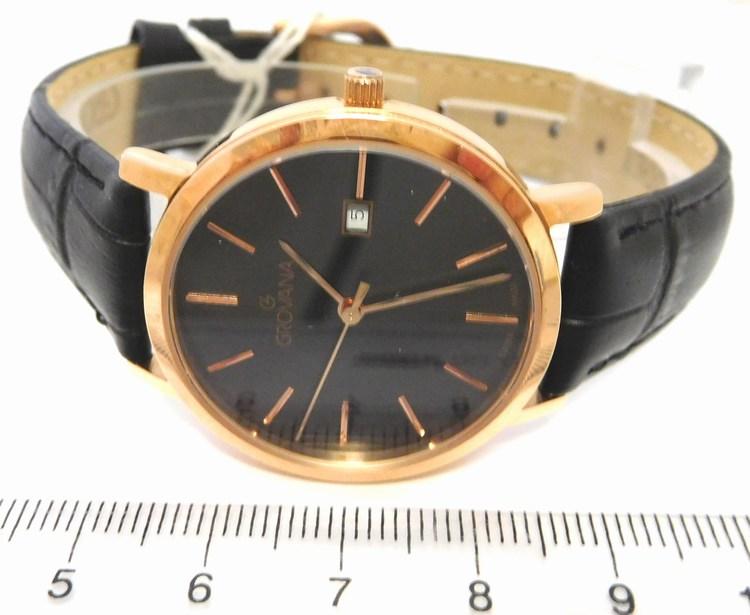 e19feb331fb Kompletní specifikace · Ke stažení · Související zboží · Komentáře (0). Dámské  luxusní švýcarské zlacené hodinky Grovana 3230.1967 na koženém pásku
