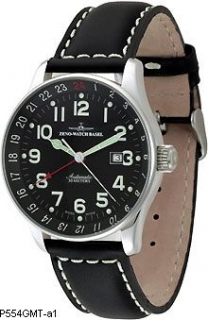 Hodinky Zeno-Watch Basel P554GMT-a1 X-Large Pilot GMT