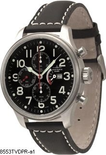 Hodinky Zeno-Watch Basel 8553TVDDPR-a1 Pilot Oversized Chrono Power Reserve