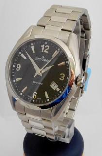 Luxusní pánské voděodolné švýcarské hodinky Grovana 1566.1137 c2a8a44f8c