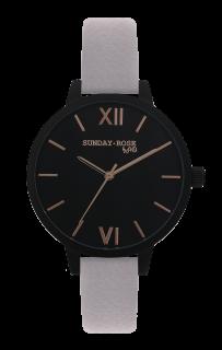 7cbf17605a7 Dámské luxusní designové černé hodinky SUNDAY ROSE Classic MOON DUST