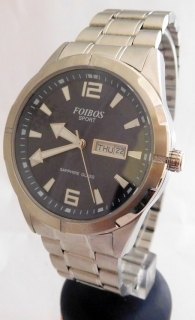 Pánské vodotěsné ocelové přehledné hodinky Foibos sport 7054.2 (safírové  sklo) 02f4a5b456
