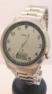 743026a4036 Pánské ocelové rádiem řízené hodinky Foibos 9001.1