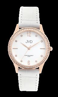 b76a020db97 Dámské čitelné elegantní náramkové hodinky JVD J4175.1 se zirkony na lunetě
