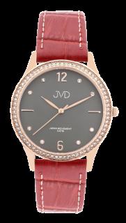 Dámské čitelné elegantní náramkové hodinky JVD J4175.2 se zirkony na lunetě 1cffd4f949