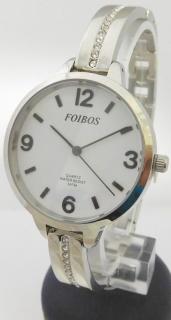 ae1366a7069 Dámské čitelné šperkové stříbrné hodinky Foibos 3374 s velkým přehledným  číselníkem