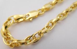 4d64e4c6d Ozdobný mohutný dámský zlatý gravírovaný náramek šířka 4mm délka 18cm  585/2,77gr 3640068