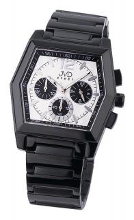 Moderní ocelové černé pánské náramkové hodinky JVD steel C1126.3 781bf9a733