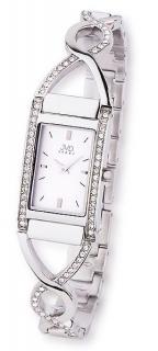 Luxusní stříbrné nerezové dámské hodinky JVD steel JA095.1 7954e17bc6a