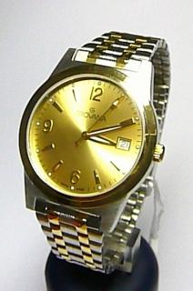 Pánské zlacené luxusní švýcarské hodinky Grovana 1514.1141 se safírovým  sklem c22e6439c6