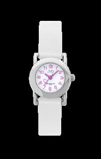 Dětské bílé náramkové hodinky JVD basic J7025.4 se srdíčkem c0ce72d6fbc