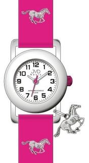 808956553b2 Růžové dětské náramkové hodinky JVD basic J7095.4 s motivem koně 5ATM