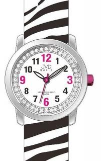 Dětské dívčí náramkové hodinky JVD basic J7136.1 se zebřím motivem ZEBRA da2141fa2c4