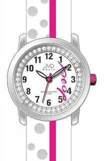 Dětské dívčí hodinky JVD basic J7137.1 zdobené kamínky pro zamilované  děvčata 771acb977c6