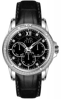 Mohutné moderní obrovské hranaté dámské hodinky Foibos 1881 s černým páskem 0fedf3e583