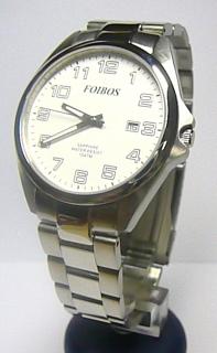 c100b800e Pánské ocelové stříbrné vodotěsné hodinky foibos 2025.1 se safírovým sklem  10ATM