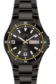 Černé vodotěsné pánské hodinky JVD steel J1086.3 se safírovým sklem 10ATM POŠTOVNÉ  ZDARMA! 4b4990c271