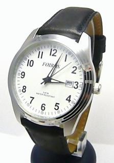 191006c38 Pánské ocelové módní hodinky voděodolné Foibos 6299.3 - 5ATM na černé kůži