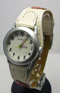 Bílé dívčí dětské hodinky Foibos 1578.2 se srdíčkovým páskem 0bacb8f910