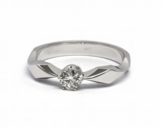 Zlatý zásnubní prsten s přírodním diamantem 585 2 11692d58456