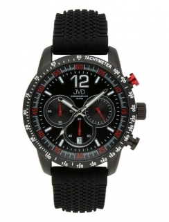 Pánské černé vodotěsné sportovní hodinky JVD chronograph J1102.1 - 10ATM  POŠTOVNÉ ZDARMA! 8328dd4333