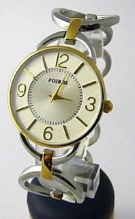 Dámské ocelové stříbrné čitelné přehledné hodinky Foibos 45802 - bicolor  POŠTOVNÉ ZDARMA! 8878dd7da6