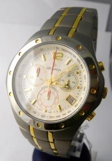 Pánské švýcarské celotitanové hodinky Grovana 1532.9122 se zlacením - chronograf  POŠTOVNÉ ZDARMA! c46e732c05