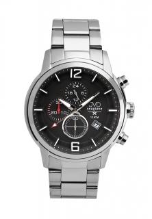 326abd782a9 Vysoce odolné černé vodotěsné chronografy hodinky JVD Seaplane METEOR  JC667.4