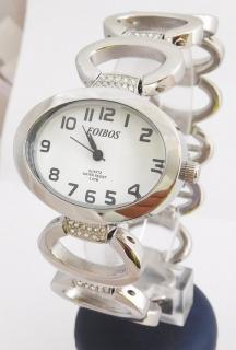 Dámské šperkové stříbrné hodinky s kamínky na pásku Foibos 52422 4ac342c671